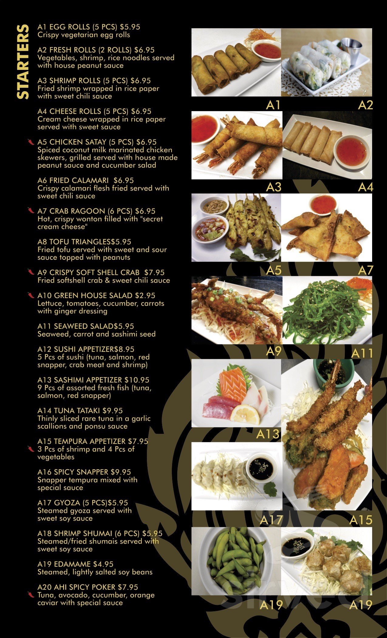 Taste Of Thai Sushi Menu In Kingwood Texas Usa
