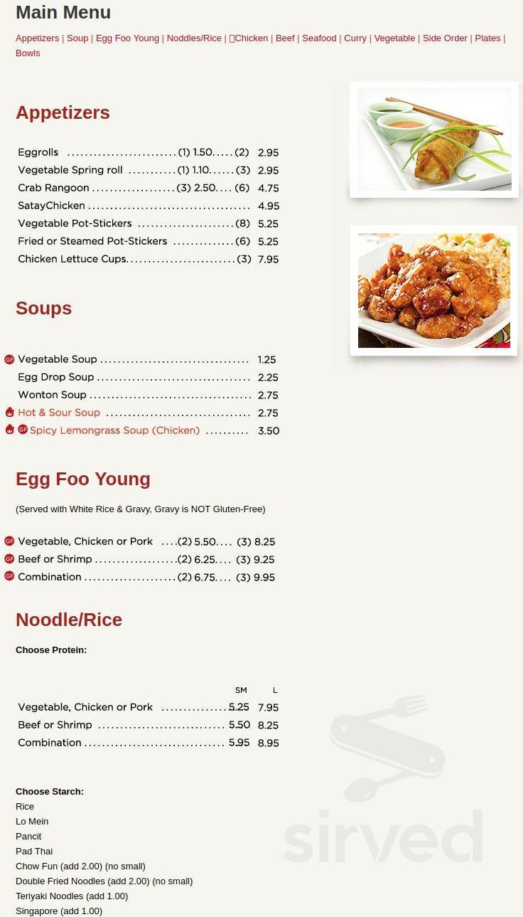 Menu For Mr Wok Chinese Restaurant In Carol Stream Illinois