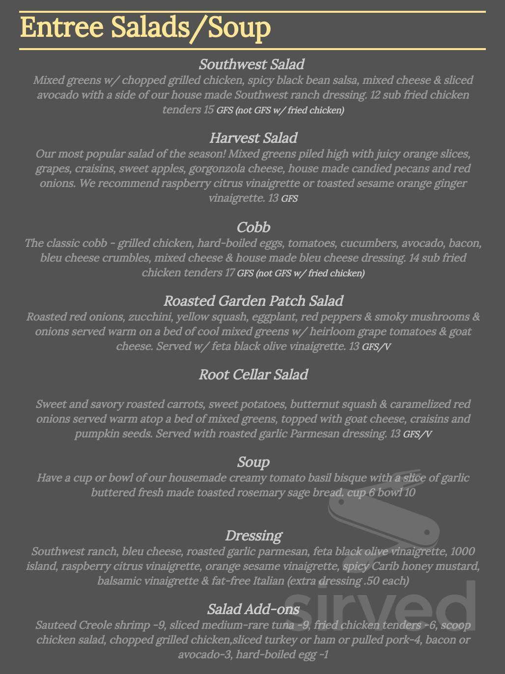 Menu for Chanticleer Eatery in Beach, Florida, USA