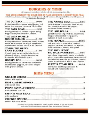 outback pizza killington menu in killington vermont usa outback pizza killington menu in