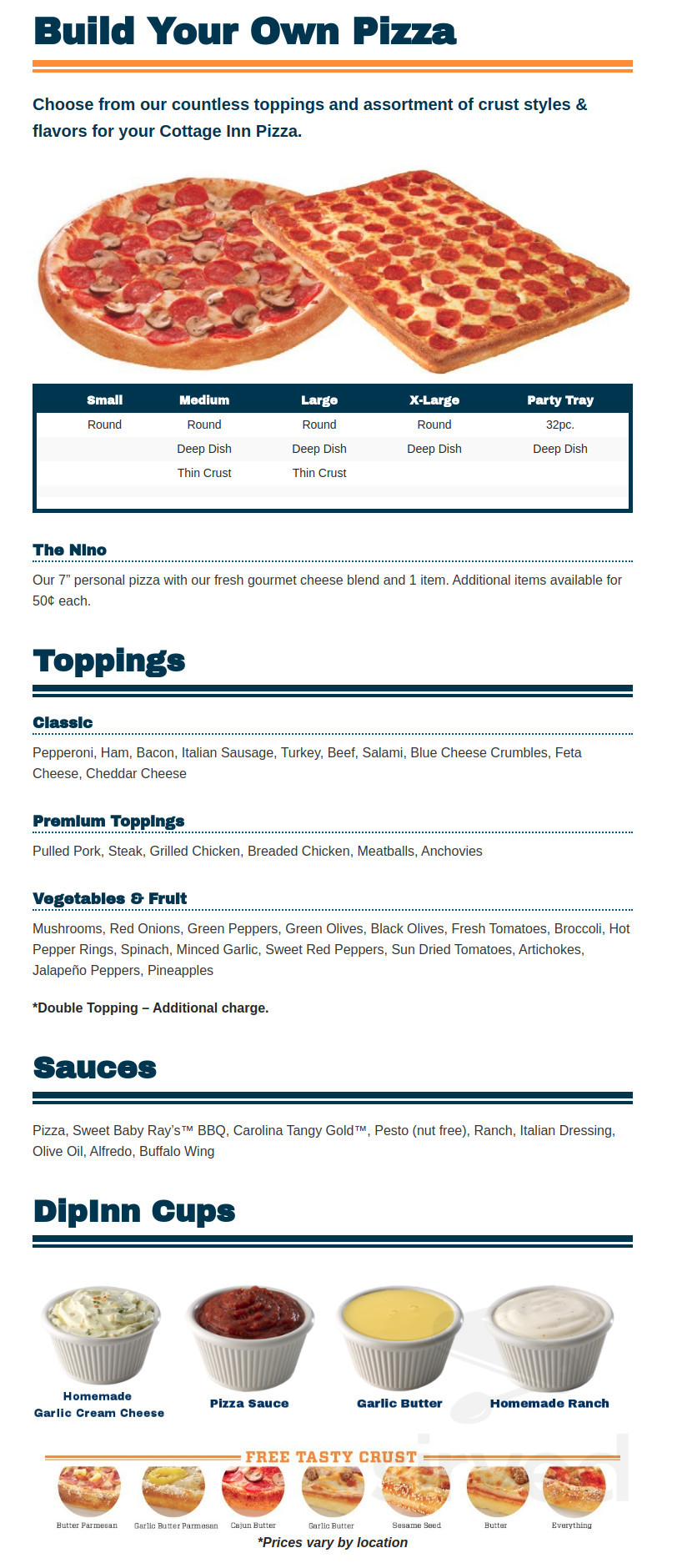 Swell Menu For Cottage Inn Pizza Taverna In New Hudson Michigan Interior Design Ideas Greaswefileorg