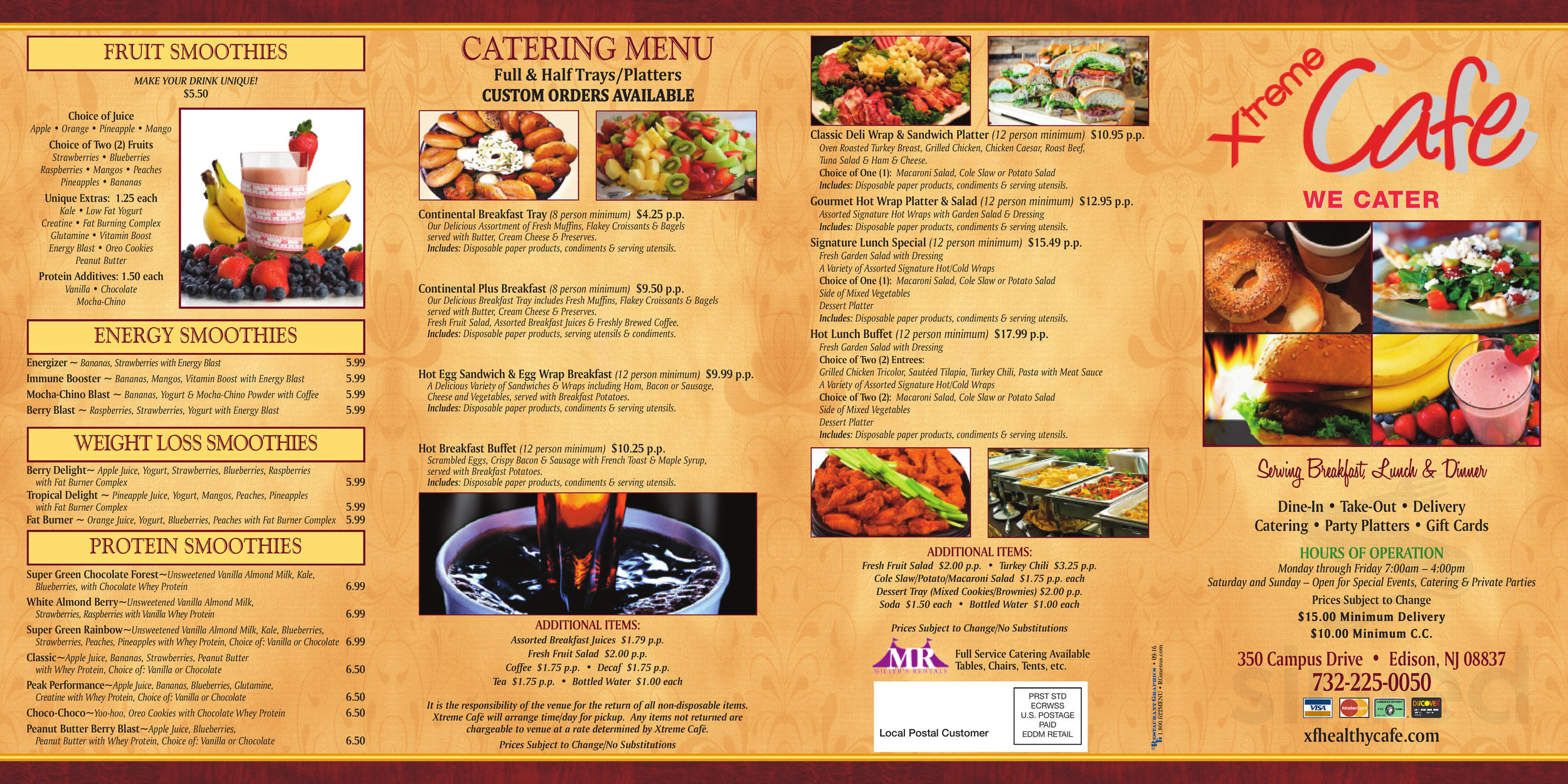 Xtreme Healthy Cafe Menu In Edison New Jersey Usa