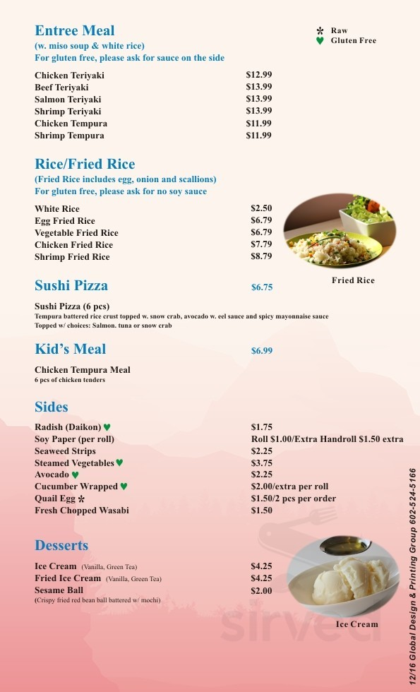 Sushi On Tatum Menu In Phoenix Arizona Usa Sushi station brings the freshest and highest quality sushi at a reasonable price. sirved