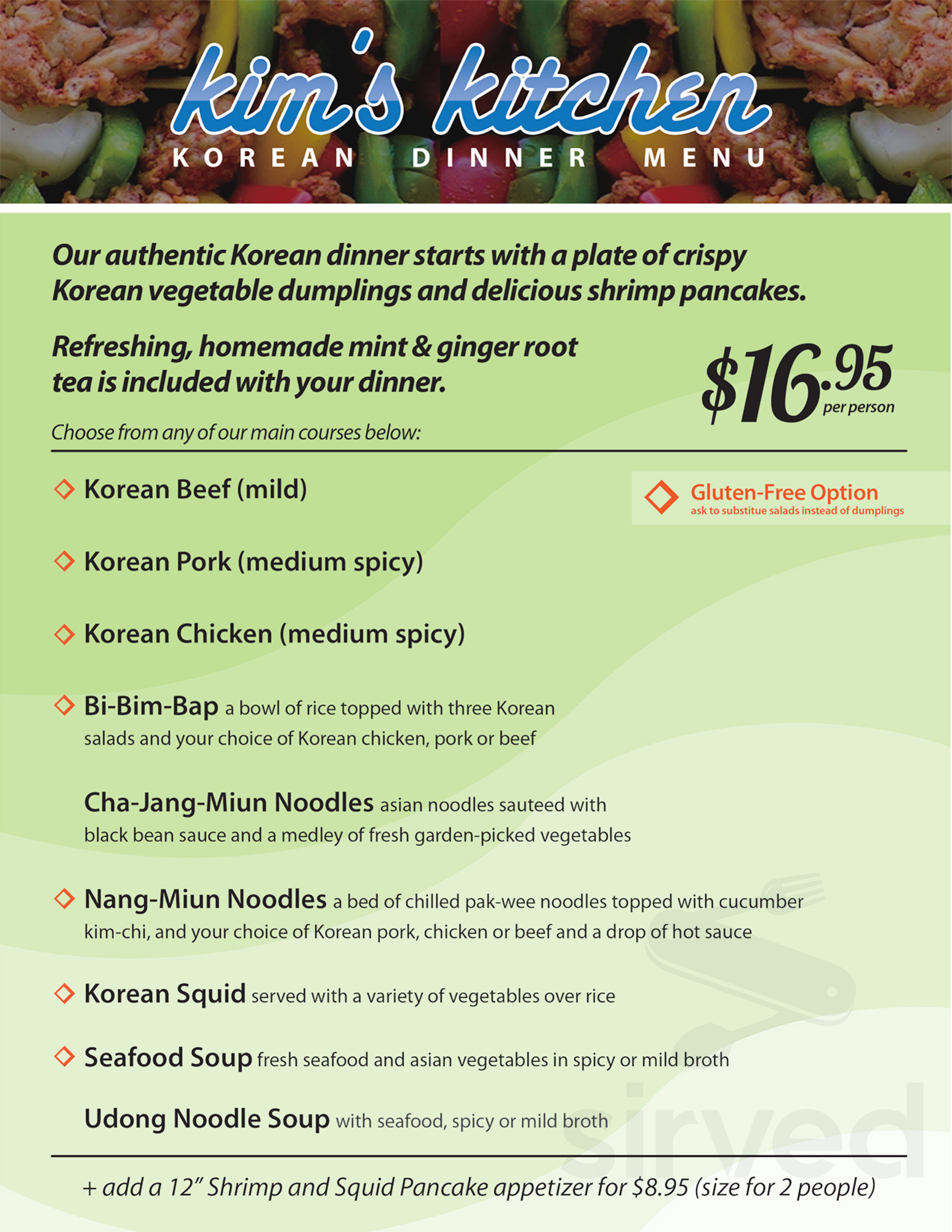 Menu For Kim S Kitchen In Center Valley Pennsylvania
