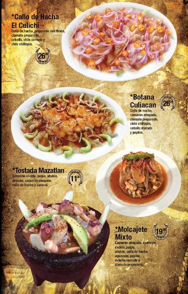 Menu for Antojitos Sinaloa Homemade Mexican Food in Las