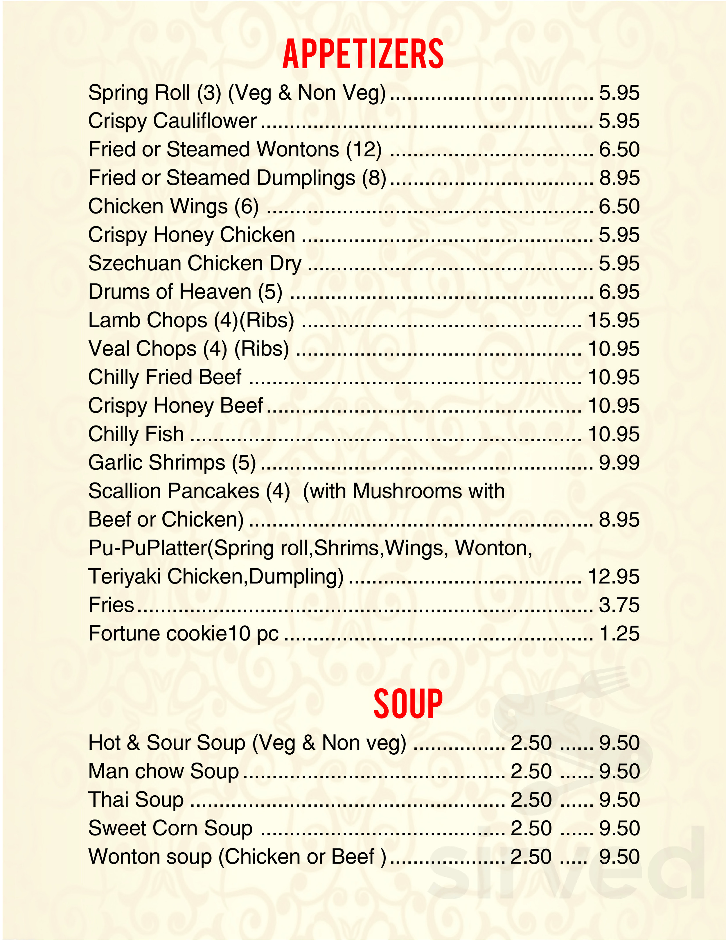 Levittown Halal Chinese Food Menu In Levittown New York