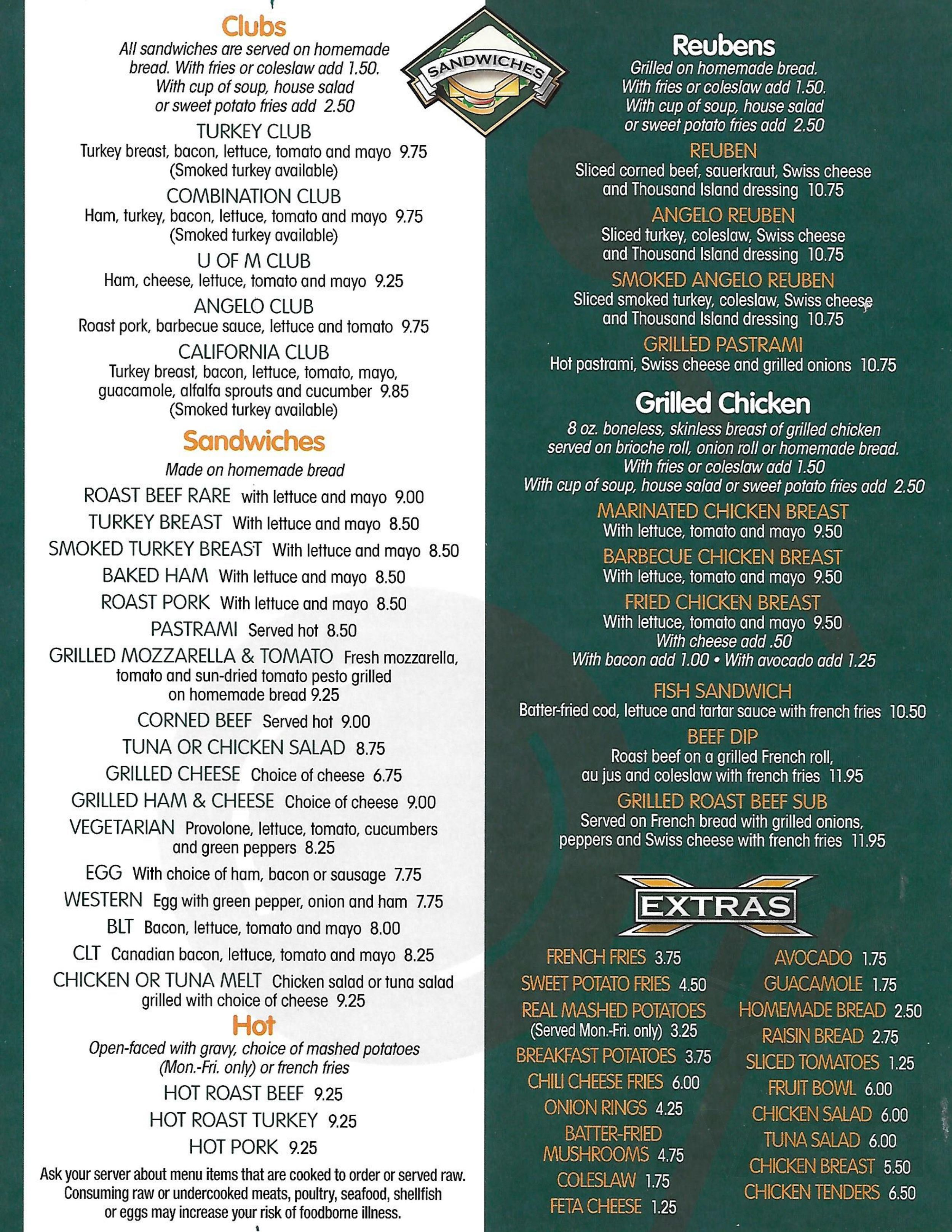 Angelo S Menu In Ann Arbor Michigan Usa Note that some deals may require signing up for a. angelo s menu in ann arbor michigan usa