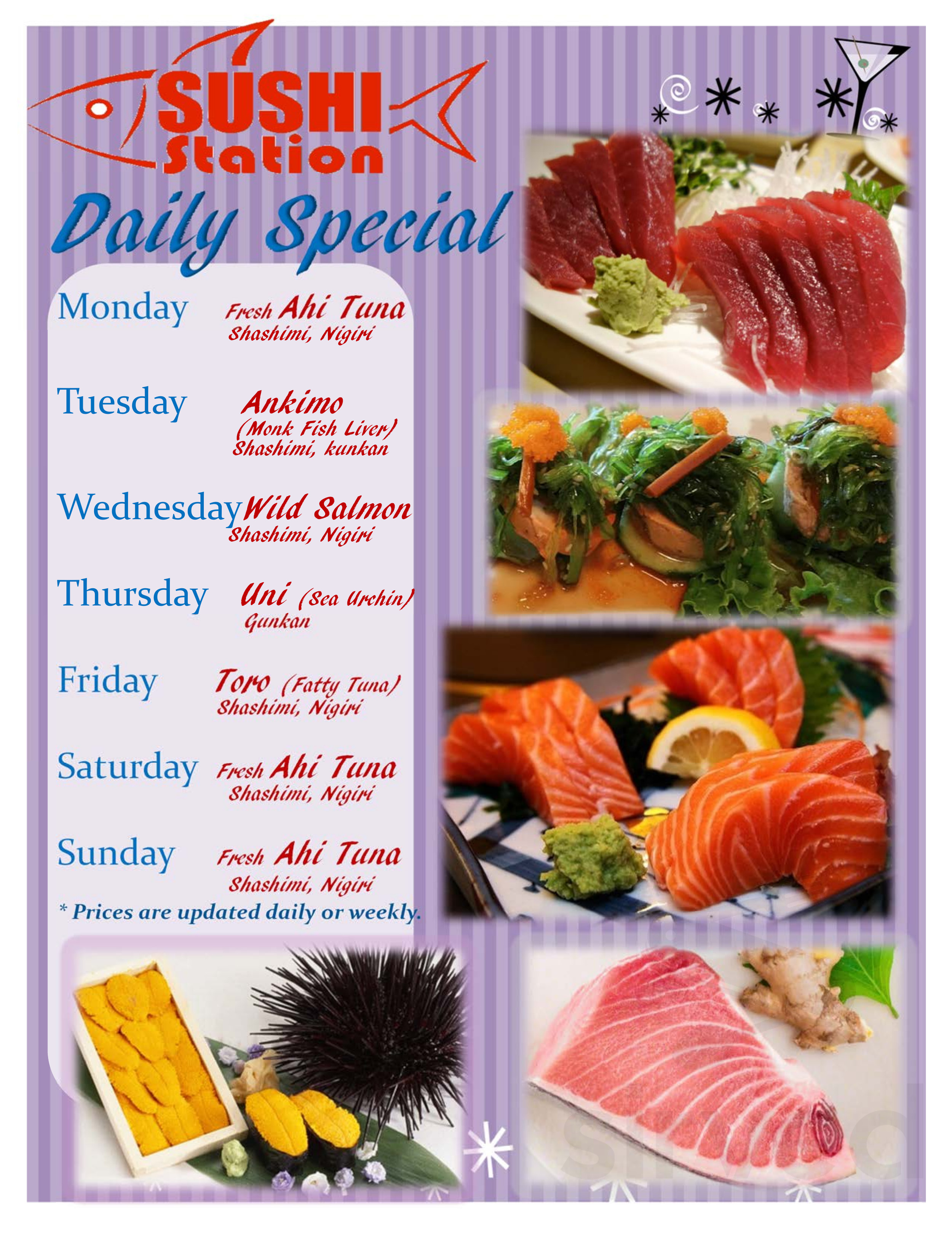 Sushi Station Japanese Restaurant Menu In Eugene Oregon Try smoked salmon instead of imitation if you do not have a bamboo sushi mat, the easiest way to roll the sushi is to use a clean dish towel. sushi station japanese restaurant menu