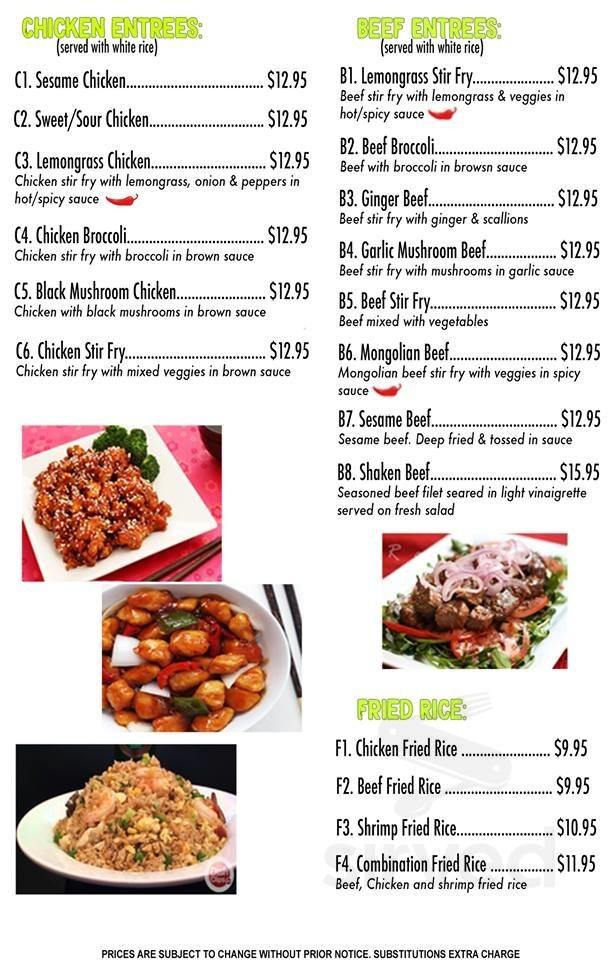 Menu For Pho Kitchen Bar Grill In Boulder Colorado