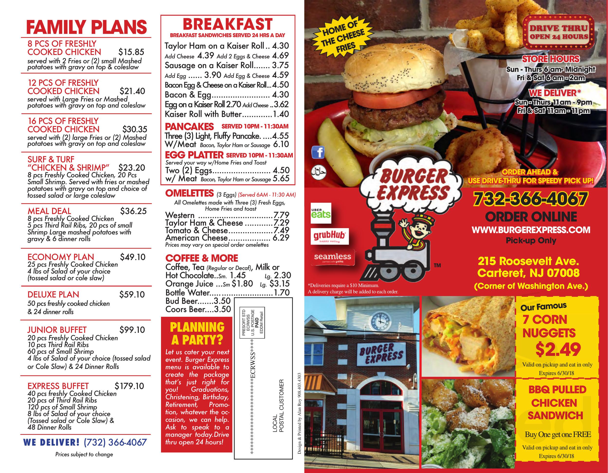 Burger express coupons free