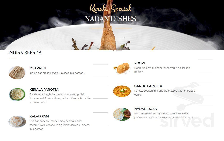Menu for mr johns real kerala kitchen main menu page 1 of 4