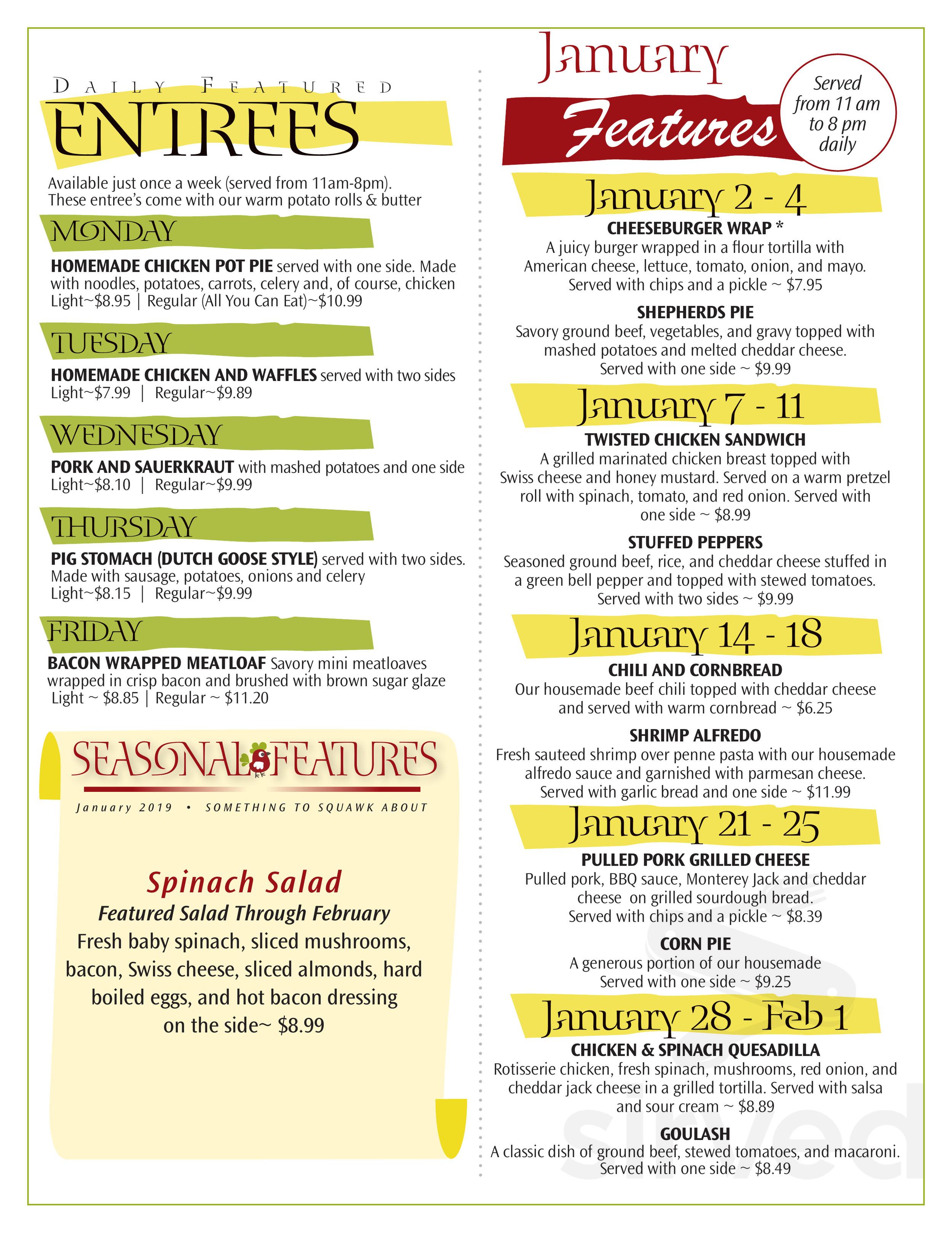 Lititz Family Cupboard Restaurant & Buffet menu in Lititz ...
