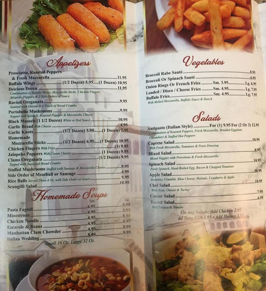 Frankie S Pizza Restaurant Menu In Bayville New Jersey