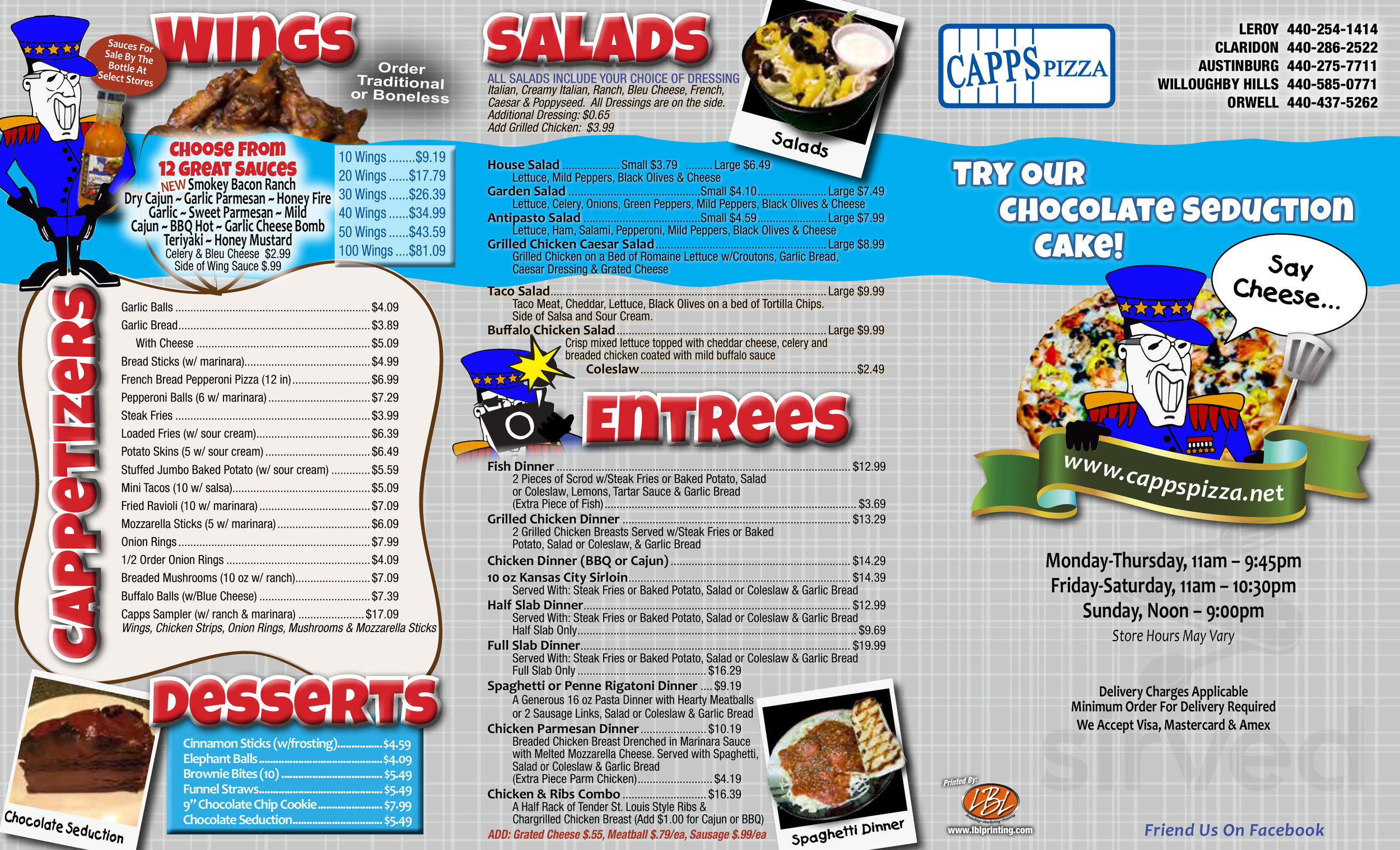 35337617e14 Menu for Capps Pizza in Painesville