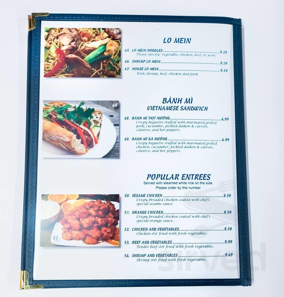 Phoviet 126 Vietnamese Restaurant Menu In Blaine Minnesota