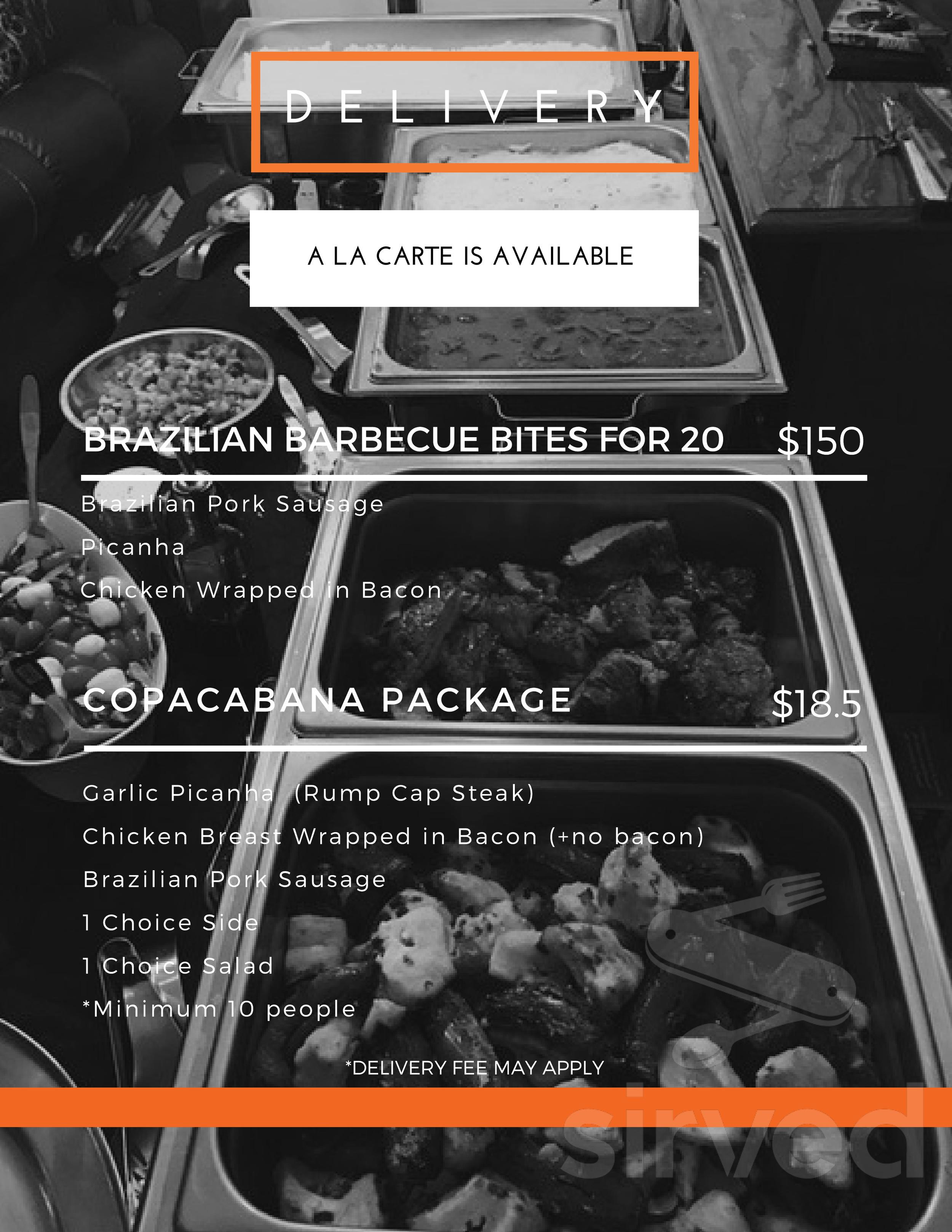 Carte Black Minimum.Menu For Copacabana Grill In Denver Colorado Usa