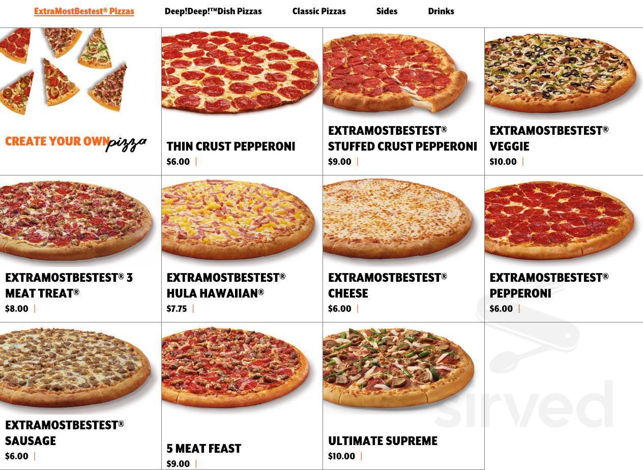 Little Caesars Pizza Menu In Long Beach Mississippi Usa