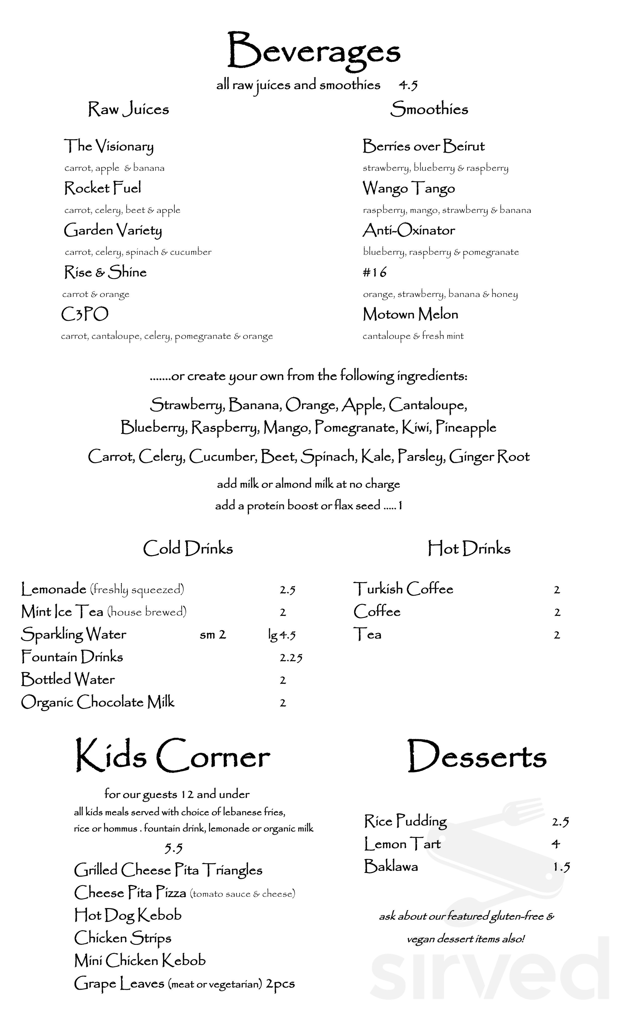 Menu For Anita S Kitchen In Ferndale Michigan Usa