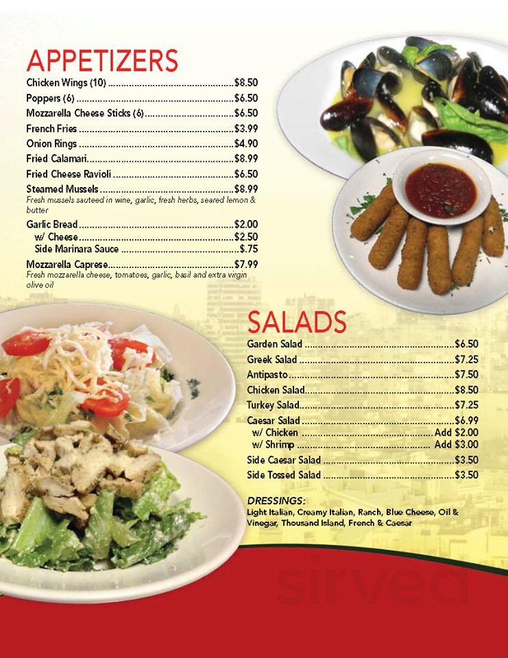 Menu For Mikey S Pizza Italian Restaurant In Jacksonville