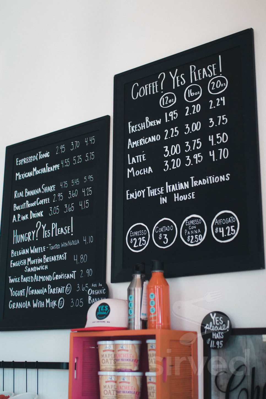 Yes Please Coffee Menu In Port Orchard Washington Usa