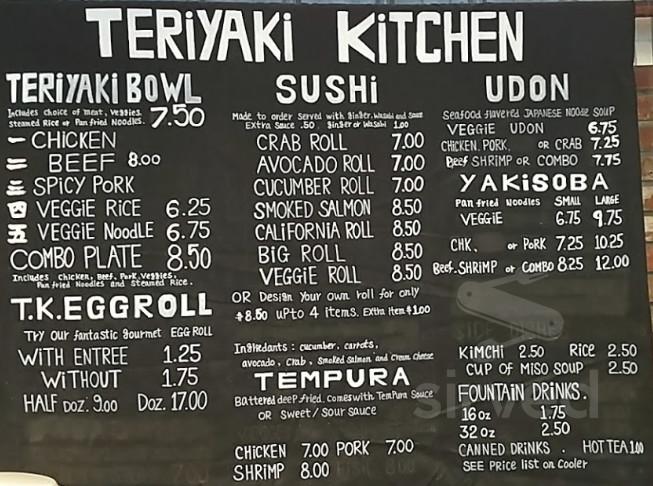 Teriyaki Kitchen Menu In Great Falls Montana Usa