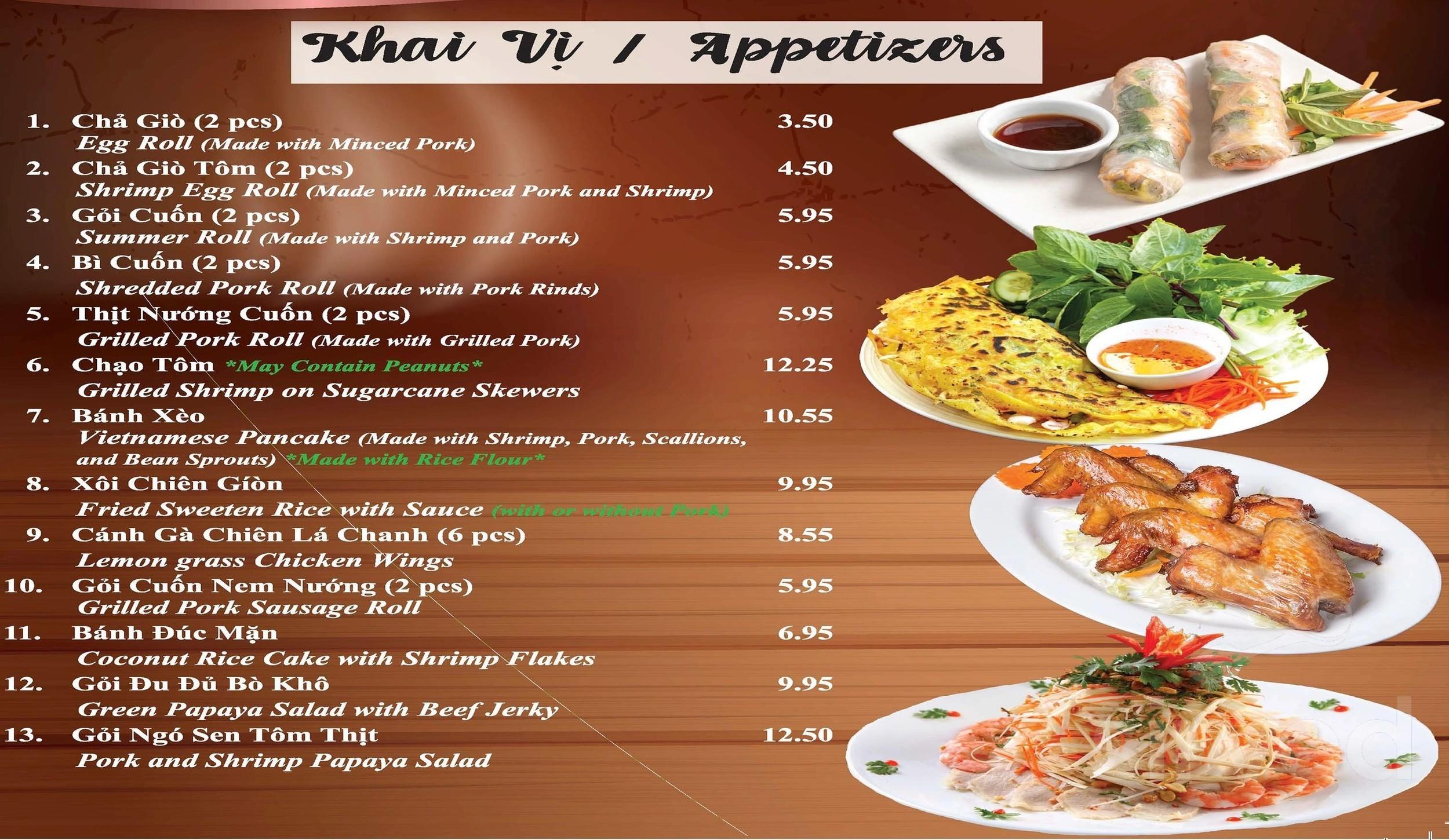 Pho One Vietnamese Restaurant Menu In Metuchen New Jersey