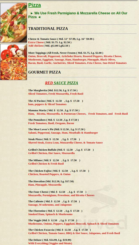 Alfredos Italian Kitchen Menu In Melrose Massachusetts Usa