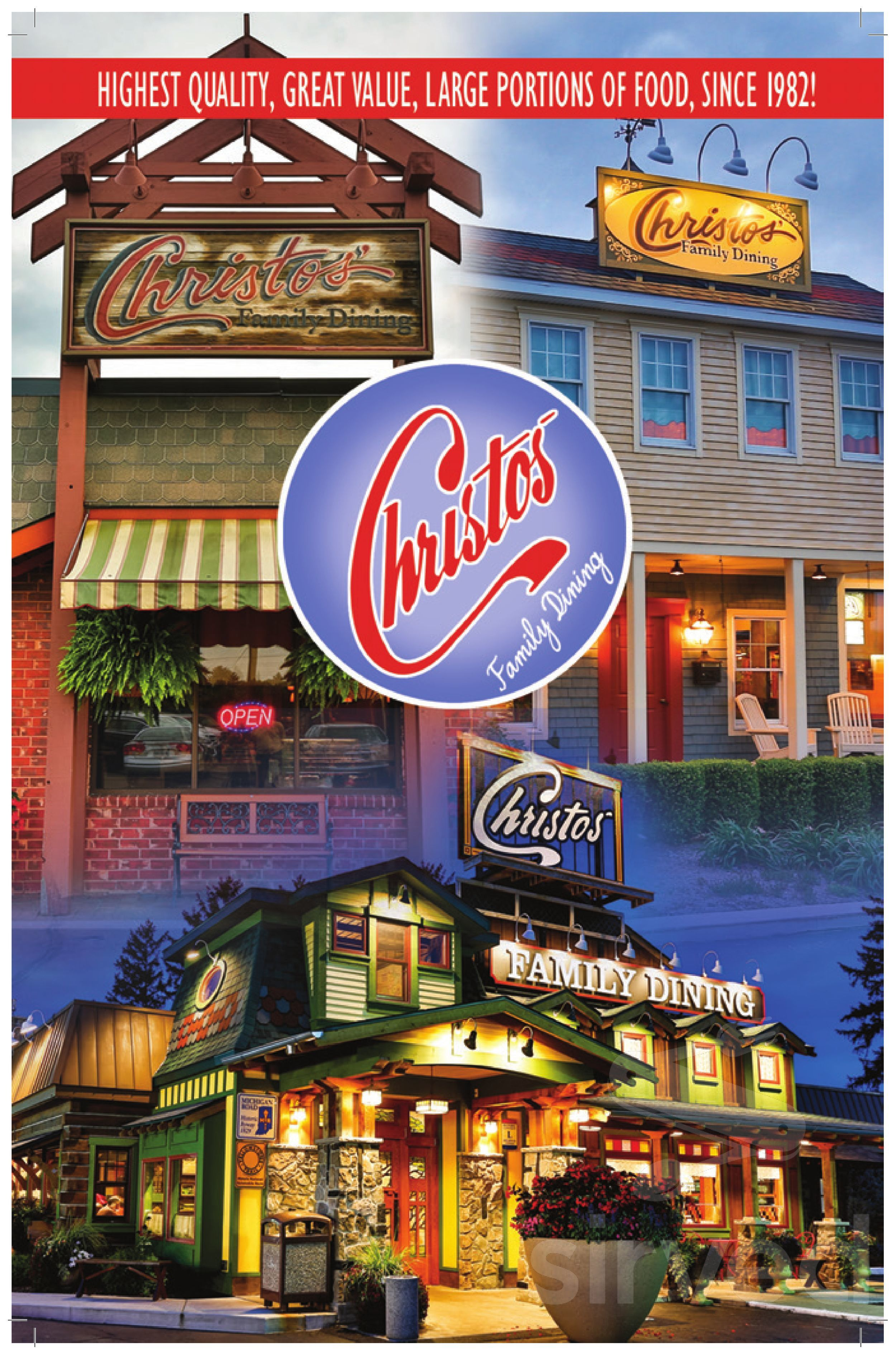 Christos Family Dining Menu In Plymouth Indiana Usa