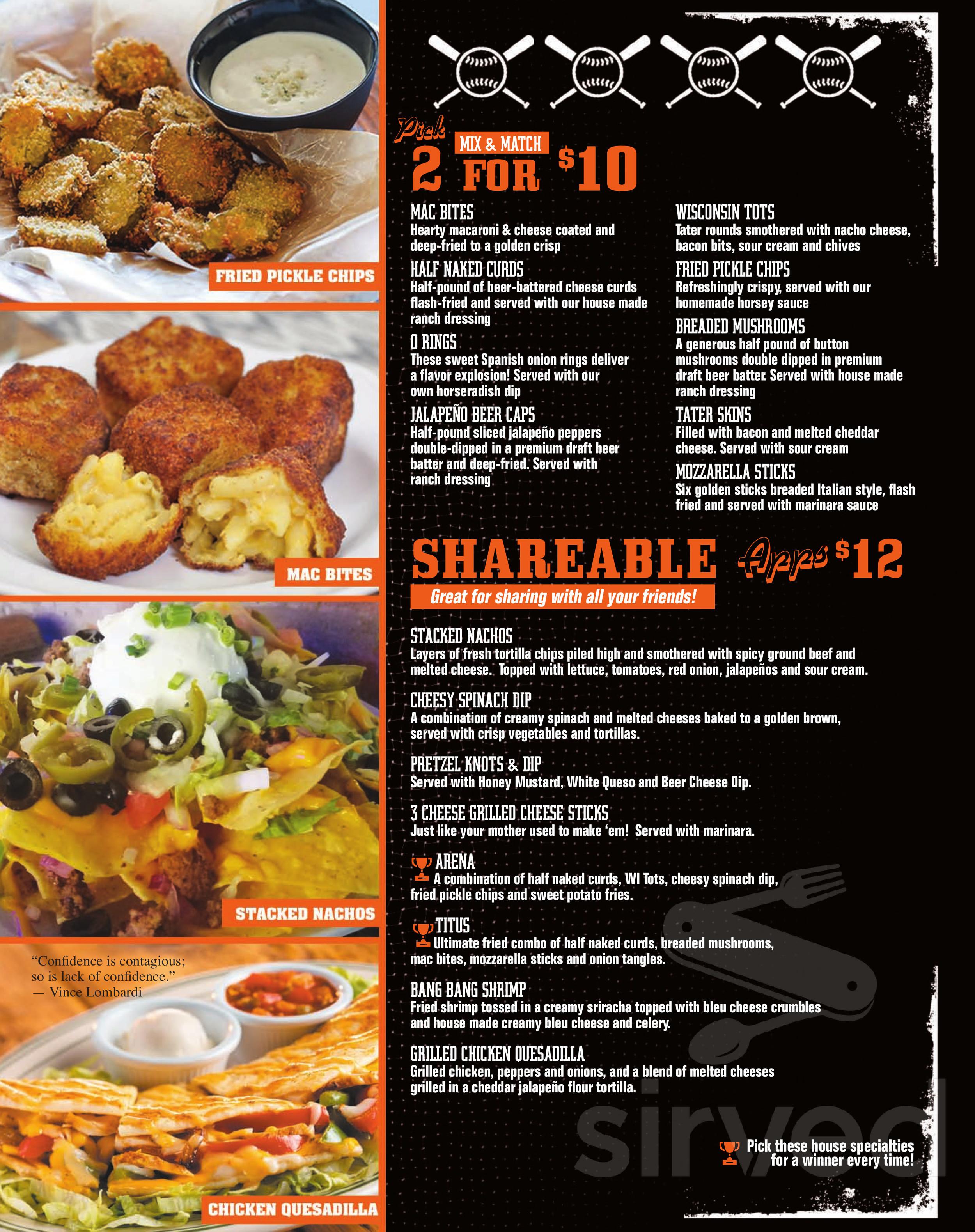 the coliseum sports bar grill menu in fond du lac wisconsin the coliseum sports bar grill menu in