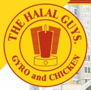 Menu for The Halal Guys in Davis, California, USA
