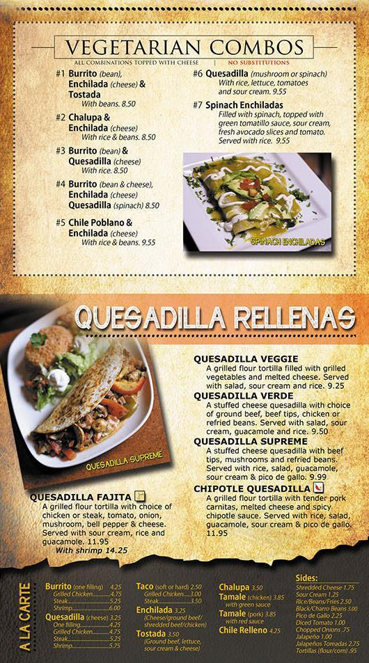 Menu For La Terraza Mexican Bar Grill In Kent Ohio