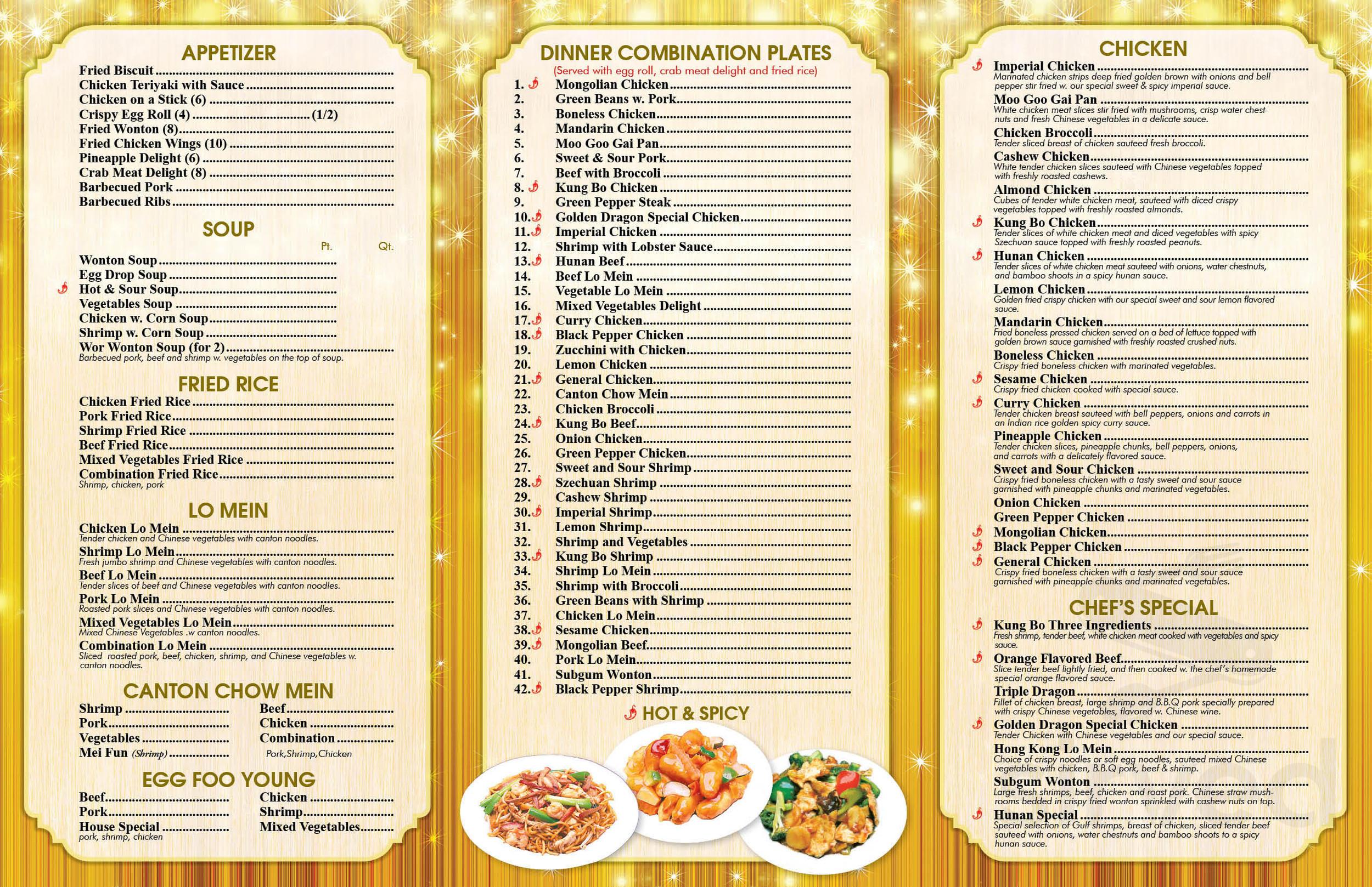 Golden dragon in houma la for menu jilin gold dragon optics co