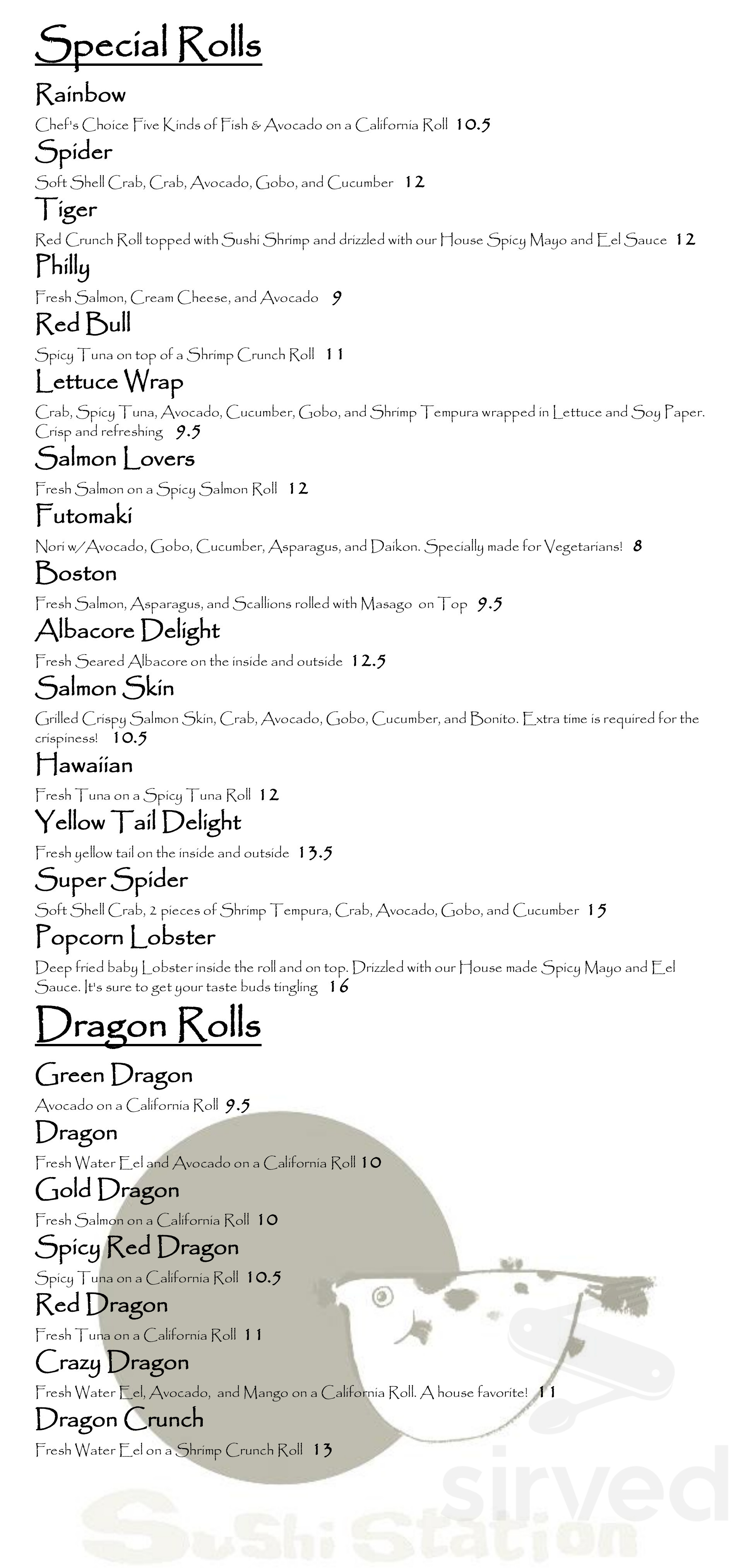 Sushi Station Menu In Riverside California Usa Order delivery or take out from sushi station in lawrence. sushi station menu in riverside