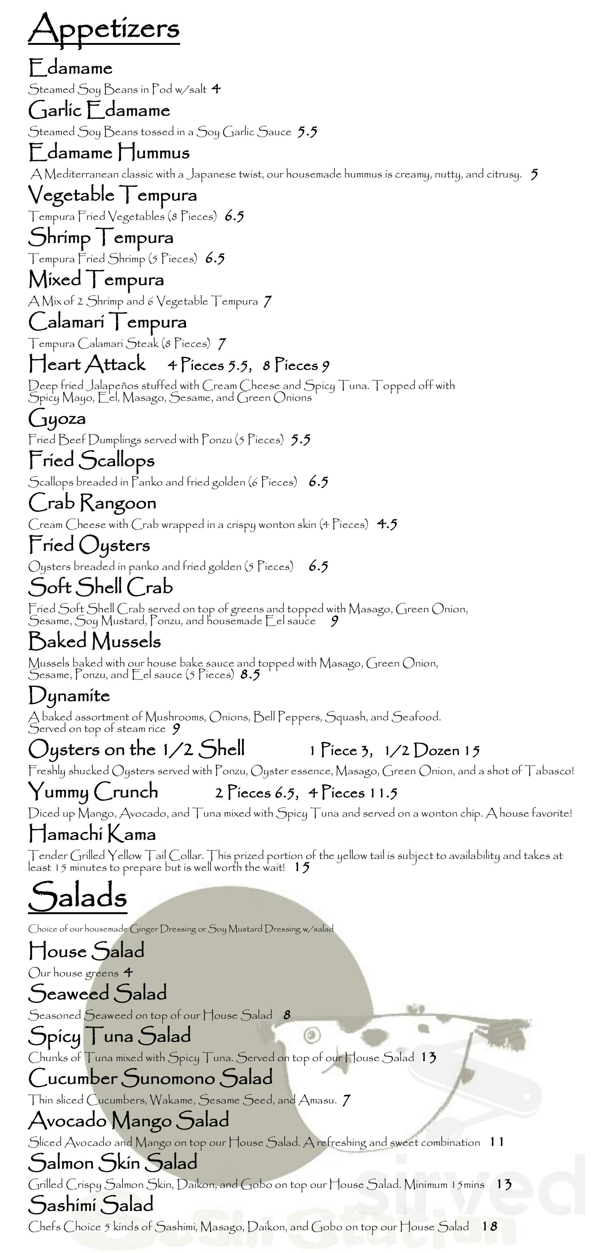 Sushi Station Menu In Riverside California Usa Sushi station brings the freshest and highest quality sushi at a reasonable price. sushi station menu in riverside